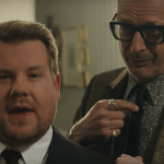 "James Corden come Ariana Grande nella parodia di ""thank u, next"" dedicata a Jeff Goldblum"