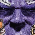 Thanos come Spider-Man in un poster mashup in stile Far From Home
