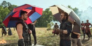 avengers infinity war thor captain america sul set hollywood