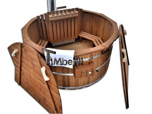 Vedeldad badtunna i trä kit (diy) möjligt