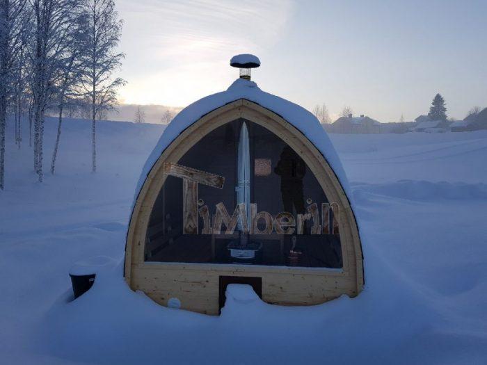 Utomhusbastu för trädgård Igloo, Magnus, Sundsbruk, Sverige (2)