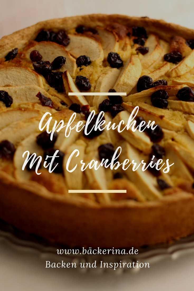 Apfelkuchen mit Cranberries