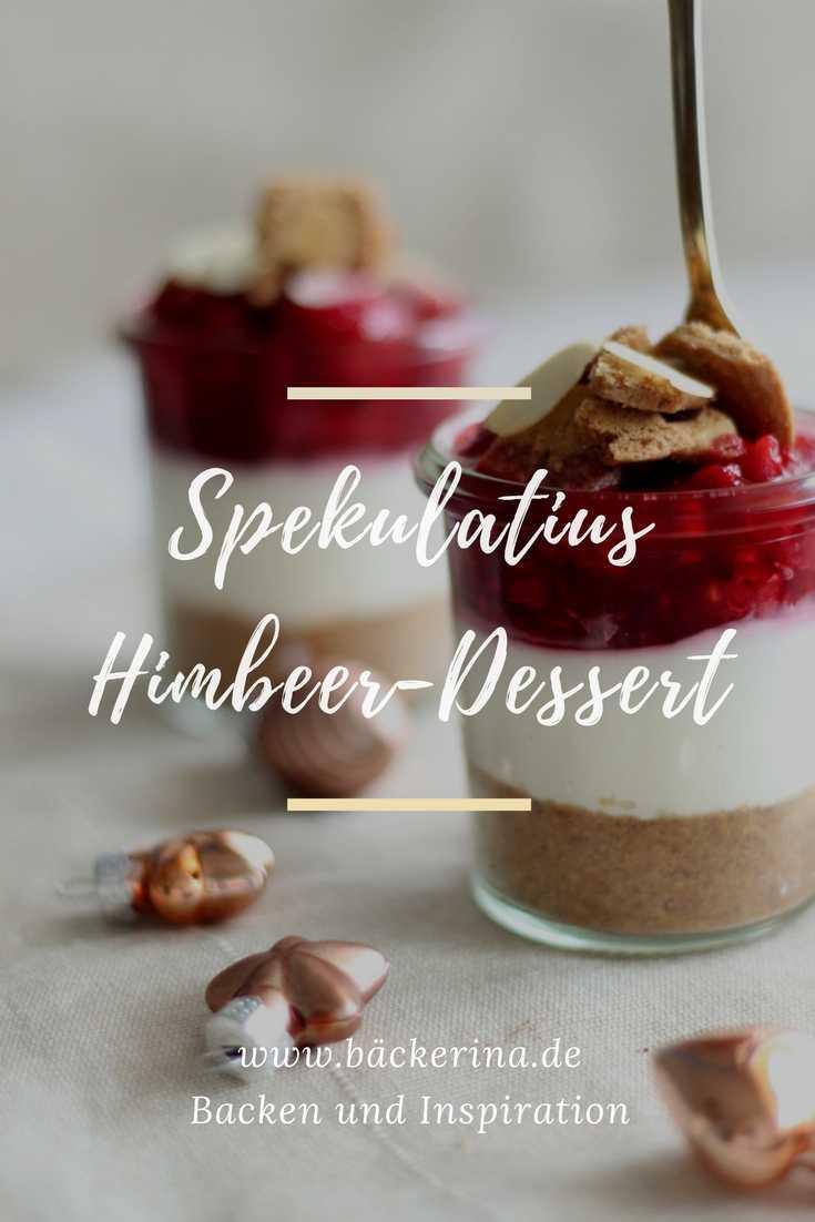 No Bake Cheesecake Im Glas Leckeres Spekulatius Himbeer Dessert