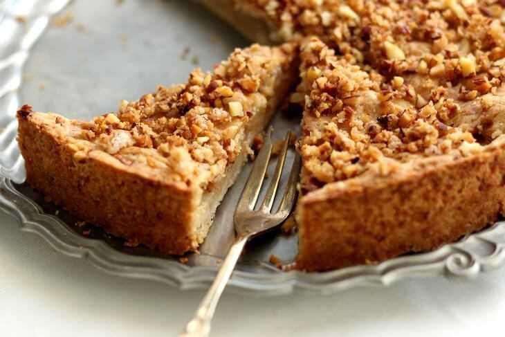 Apfel Birnen Pie mit Mandelkrokant | bäckerina.de