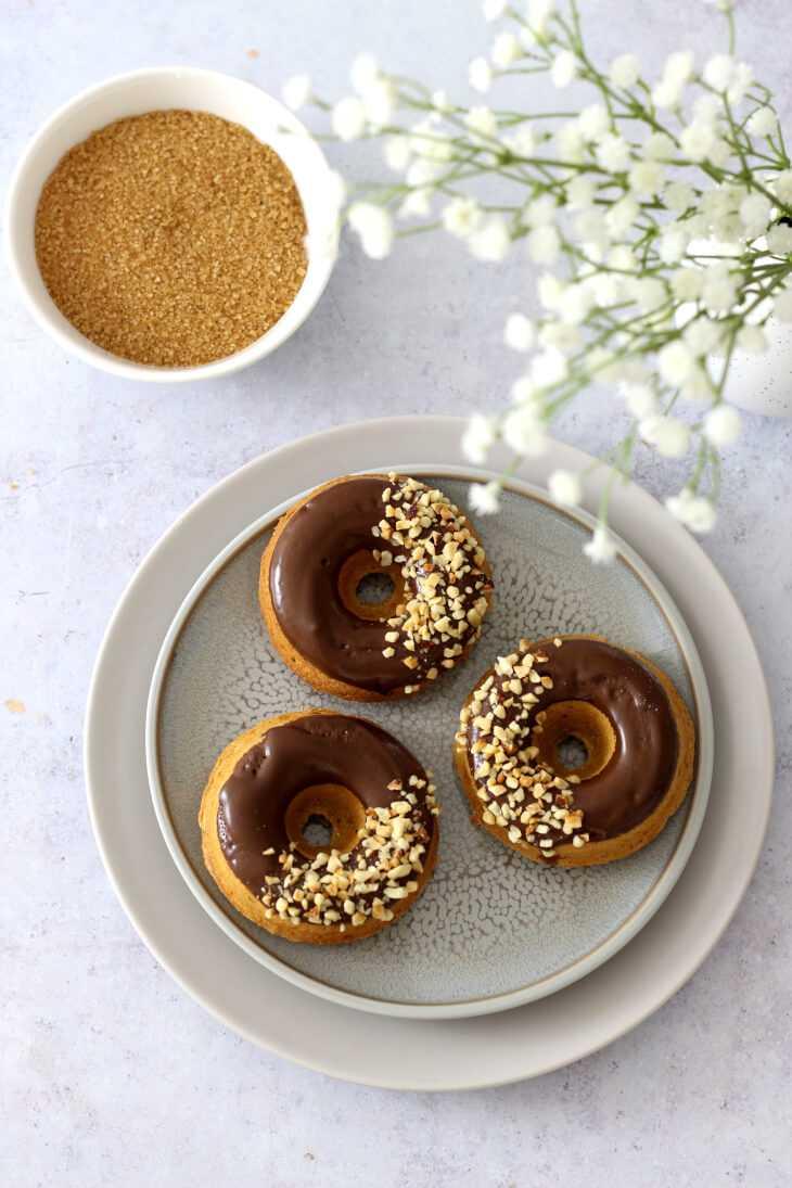 Zuckerarme Dinkel Donuts | bäckerina.de