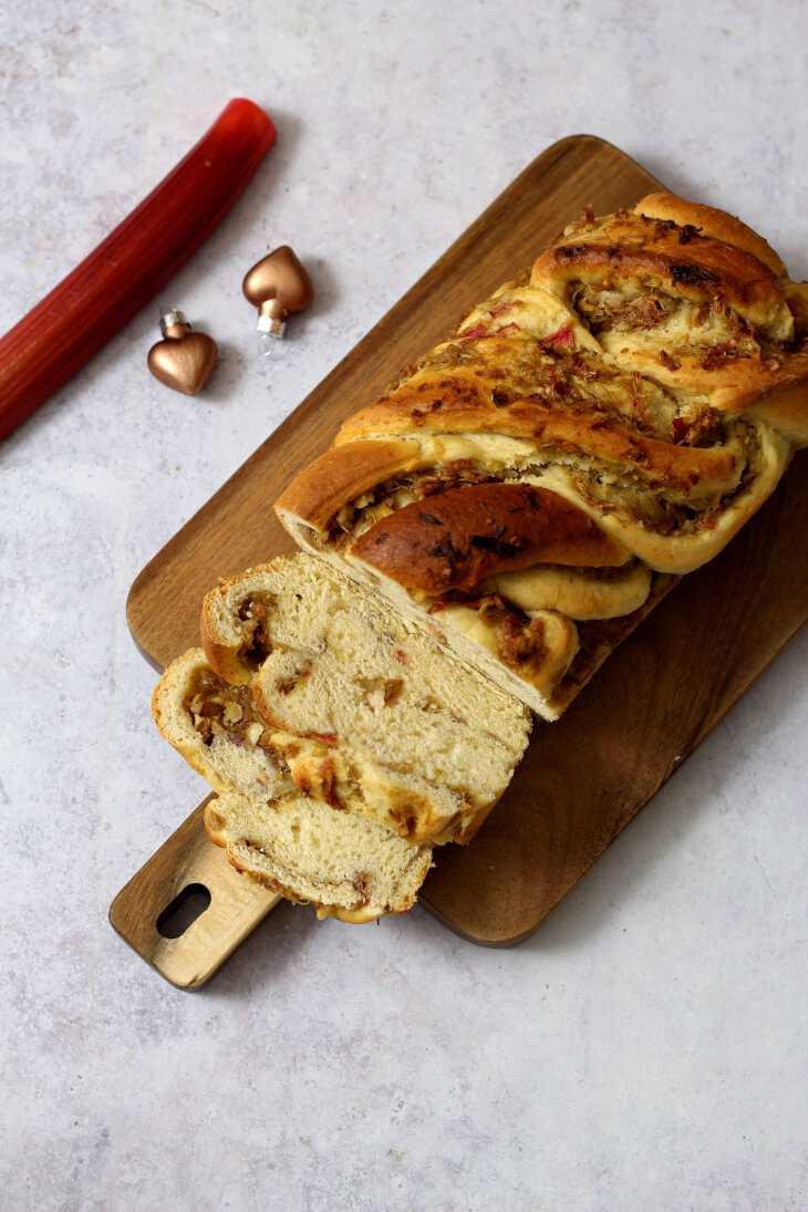 Rhabarber Zopf Zimt | bäckerina.de