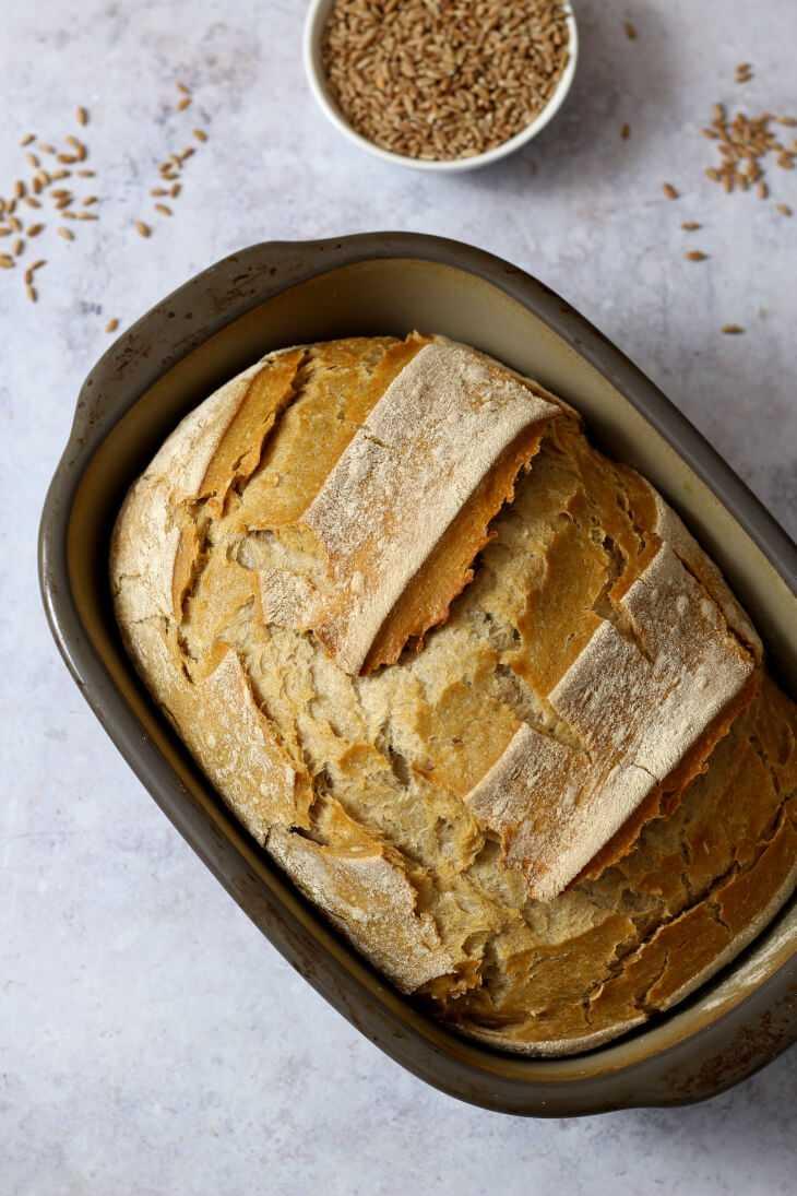 Brot über Nacht mit Dinkel und Roggen   bäckerina.de