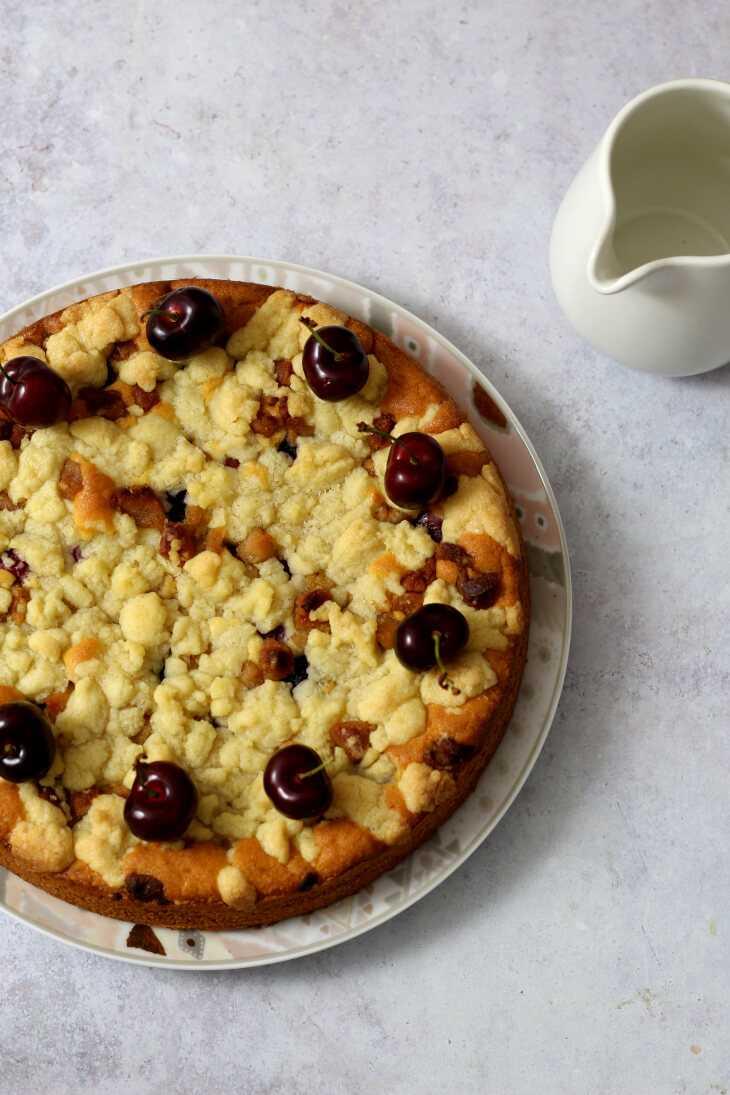 Kirschkuchen mit Marzipan | bäckerina.de