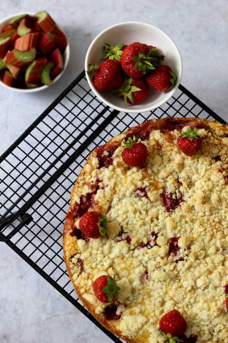 Clafoutis Rhabarber Erdbeeren | bäckerina.de