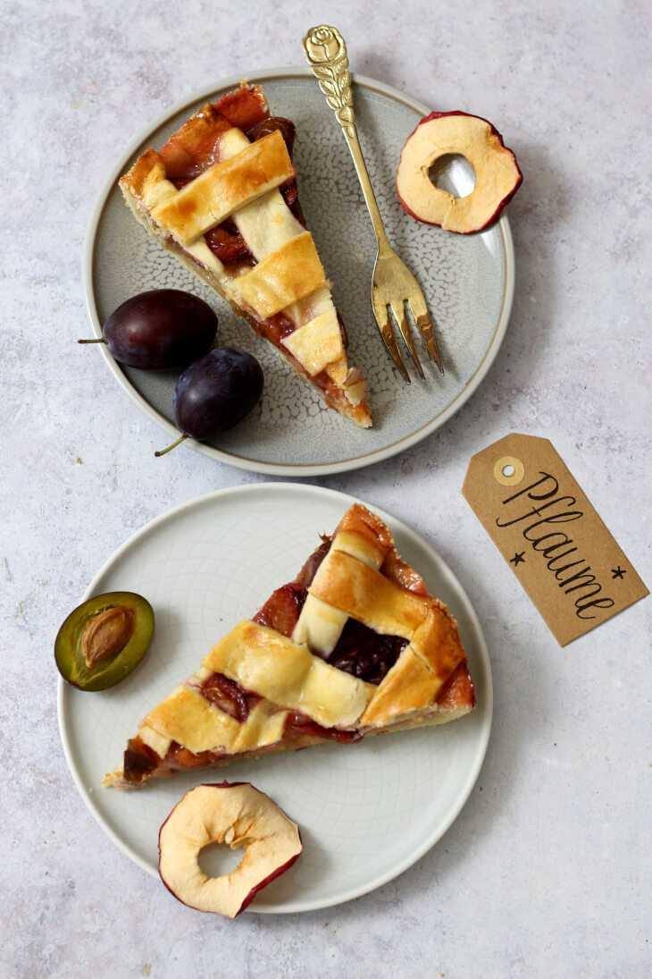 Pflaumen Tarte mit Äpfeln | bäckerina.de