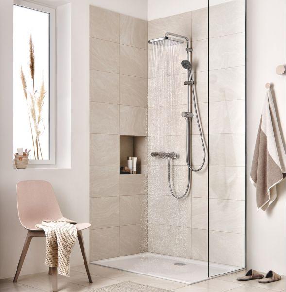 grohe vitalio start system 250 cube flex duschsystem mit umstellung chrom