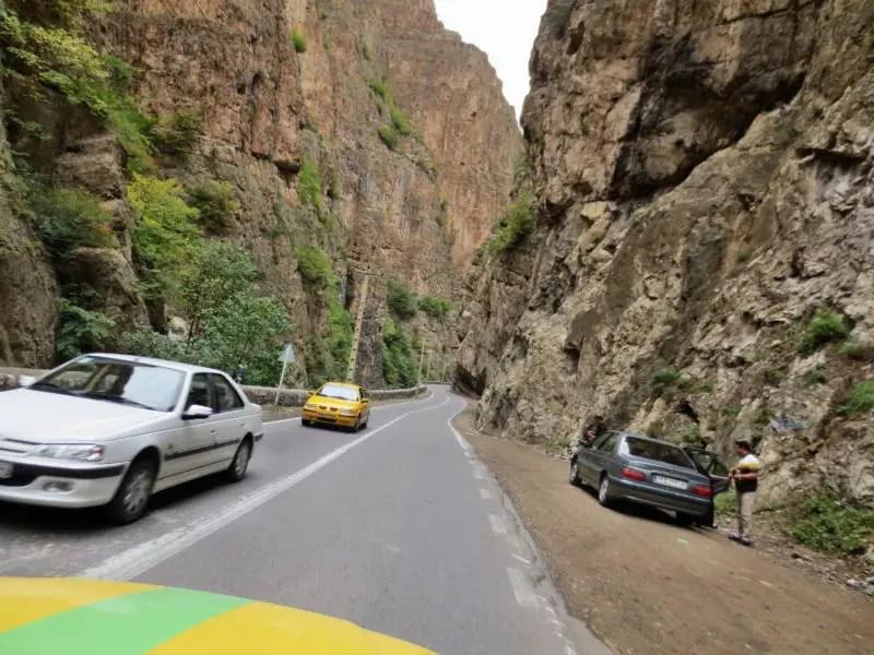 Chalus Road im Iran