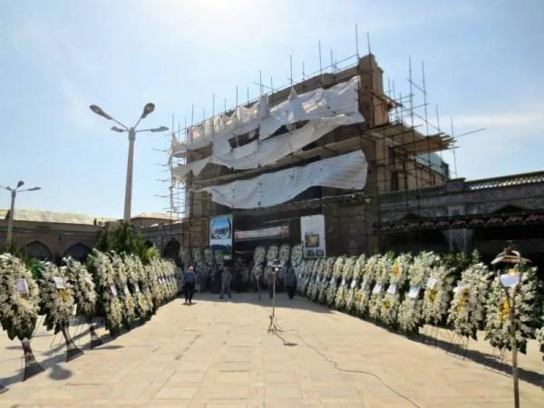 Gedenktafeln der Opfer von der Massenpanik in Mekka 2015
