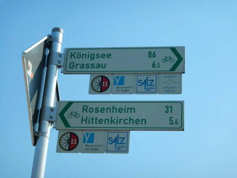 Bodensee Königssee Radweg Beschilderung