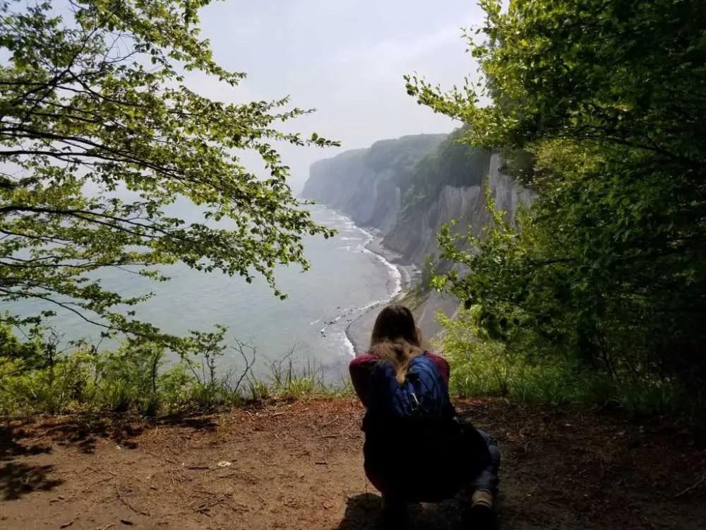 Jasmund Nationalpark auf Rügen. Wanderung im Mai.