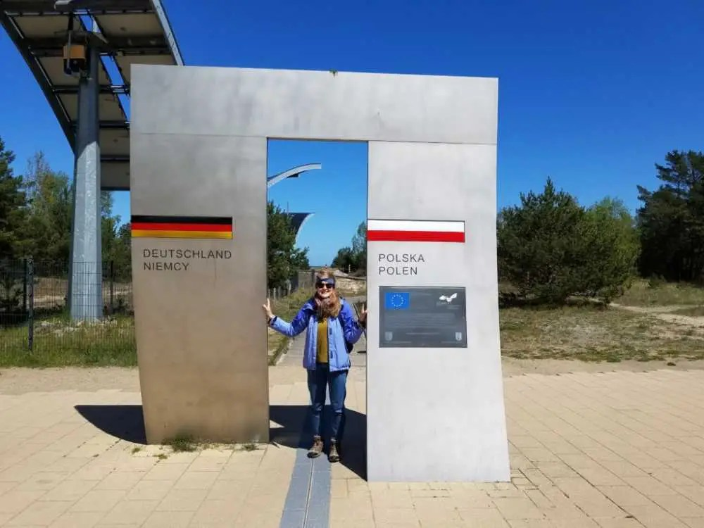 Bansin und Swinemünde auf der polnischen Seite. Usedom.