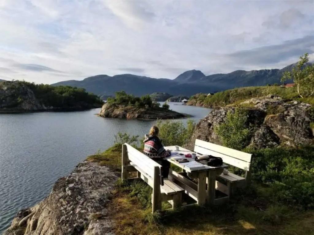 Ruhe und Entspannung beim Polarkreis in Norwegen