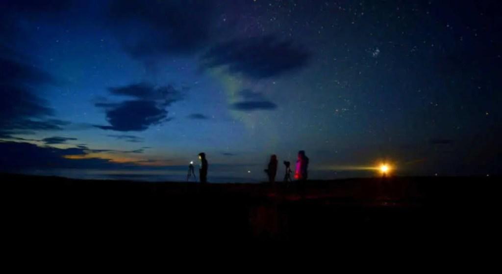 Polarlichter in der Finnmark jagen.