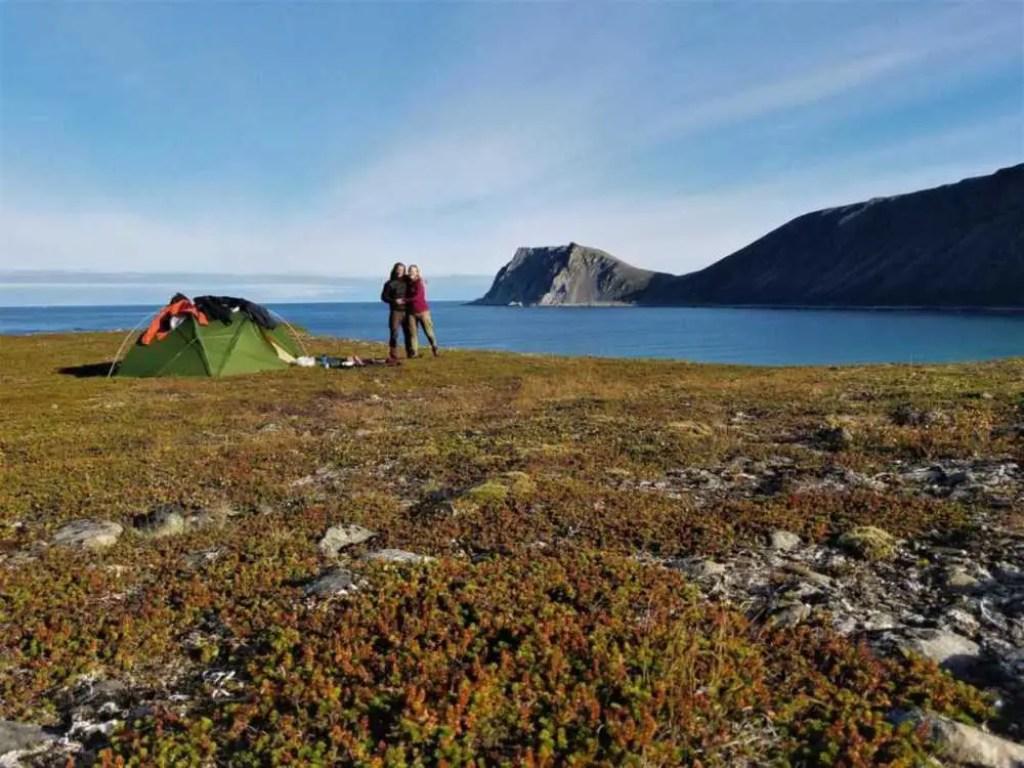 Am nördlichsten Punkt der Finnmark am Nordkinn beim Kinnarodden.