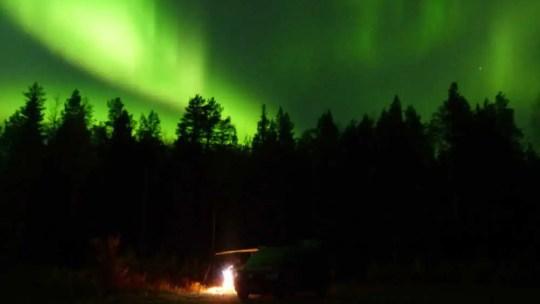 Polarlichter in Lappland im Herbst