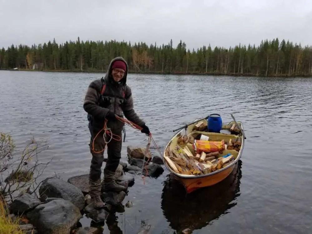 Einsame Hütte im Osten von Finnland