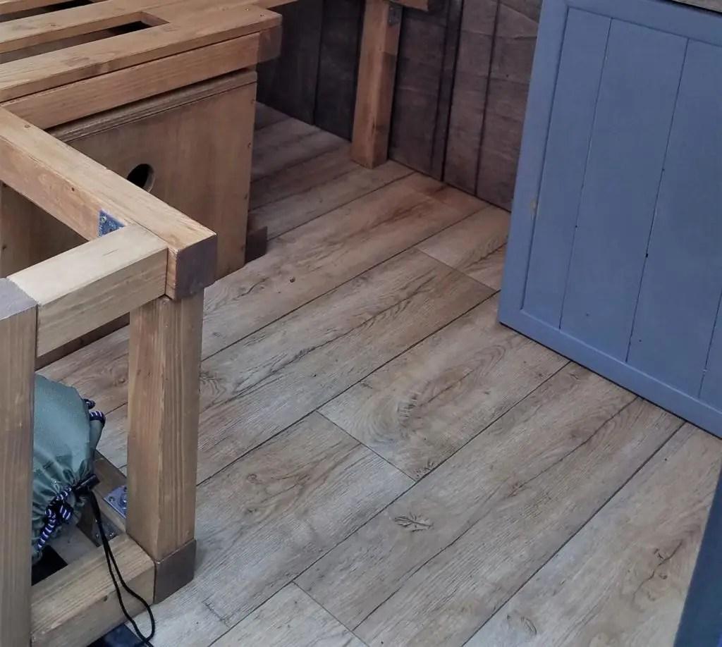 PVC-Bodenbelag im Camper
