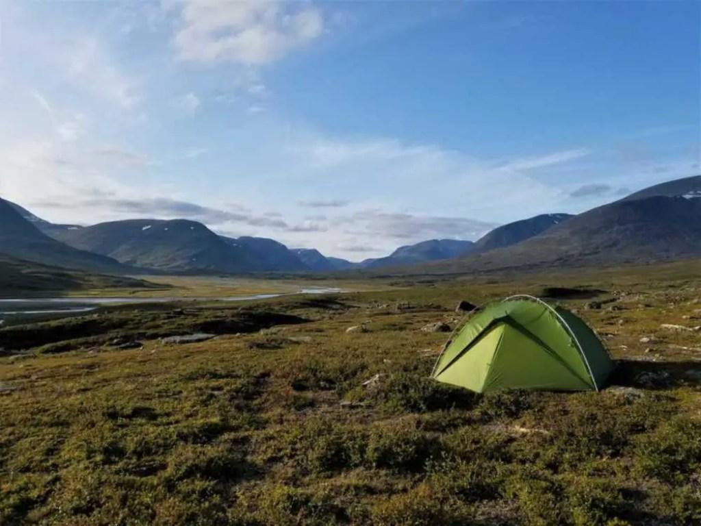 Zelten auf dem Dag Hammarskjöldsleden. Von Abisko nach Nikkaluokta.