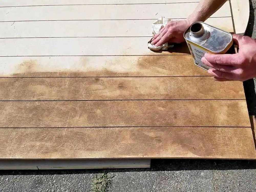 Dachhimmel aus Sperrholz für den Camper selber bauen. Holz-Öl