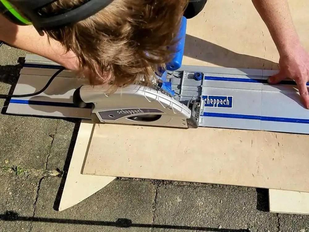 Dachhimmel aus Holz für den Camper selber bauen mit der Tauchkreissäge
