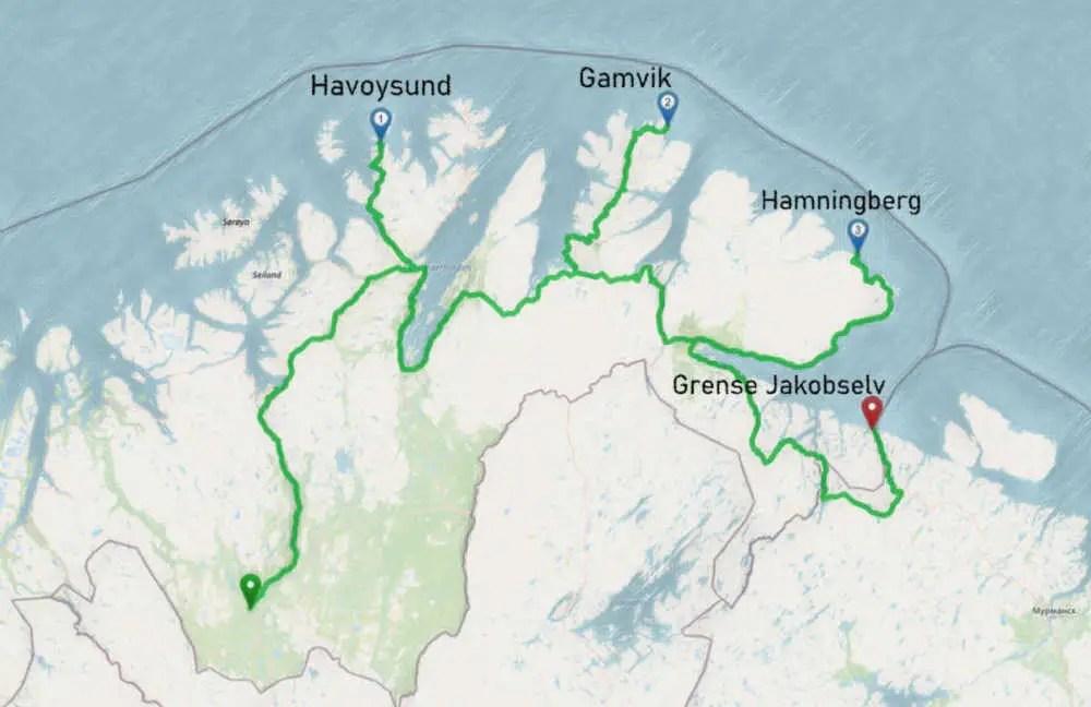 Tour mit dem Camper durch die Finnmark