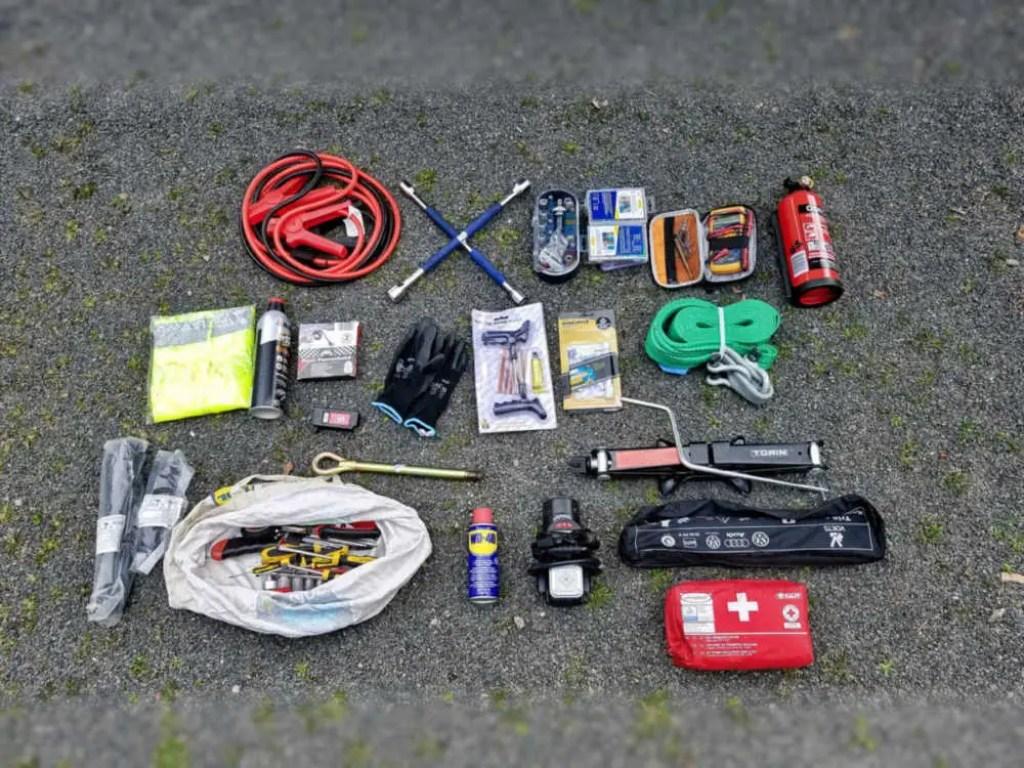 Pannen-Ausrüstung und andere nützliche Dinge für die Reise mit dem Camper