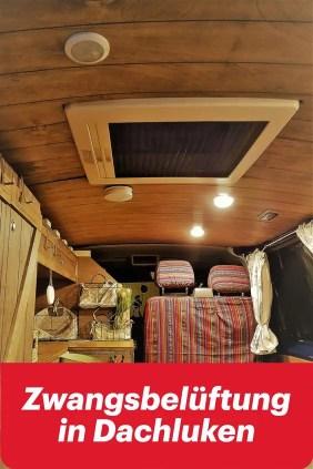 Zwangsbelüftung in Camper Dachluken