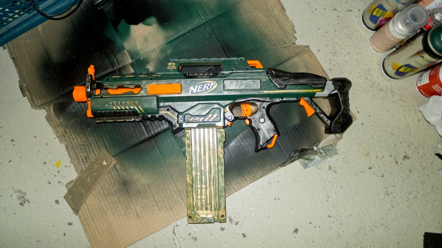 Draufsicht des Paintjob der Rapidstrike Modifikation