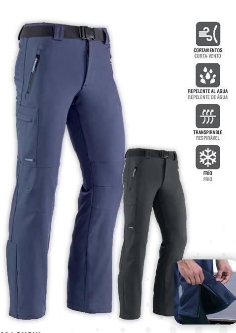Pantalón multibolsillos con cierre frontal de cremallera y botón a presión. Elásticos en los late- rales de la cintura y cinturón elástico ajustable. Apertura lateral en el bajo con cierre cremallera y tapeta con velcro.