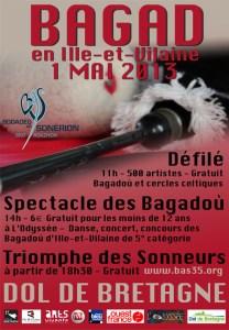 Affiche Bagad en Ille-et-Vilaine