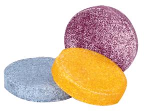 pastilhas de colorir o banho