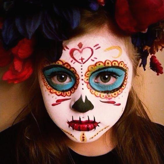 maquiagem de caveira mexicana