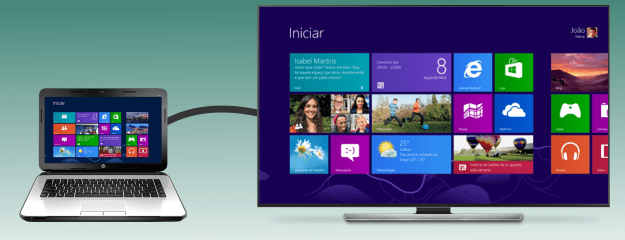 conectar notebook na tv