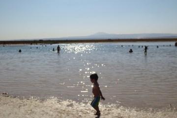 Uma das lagoas em que é permitido nadar