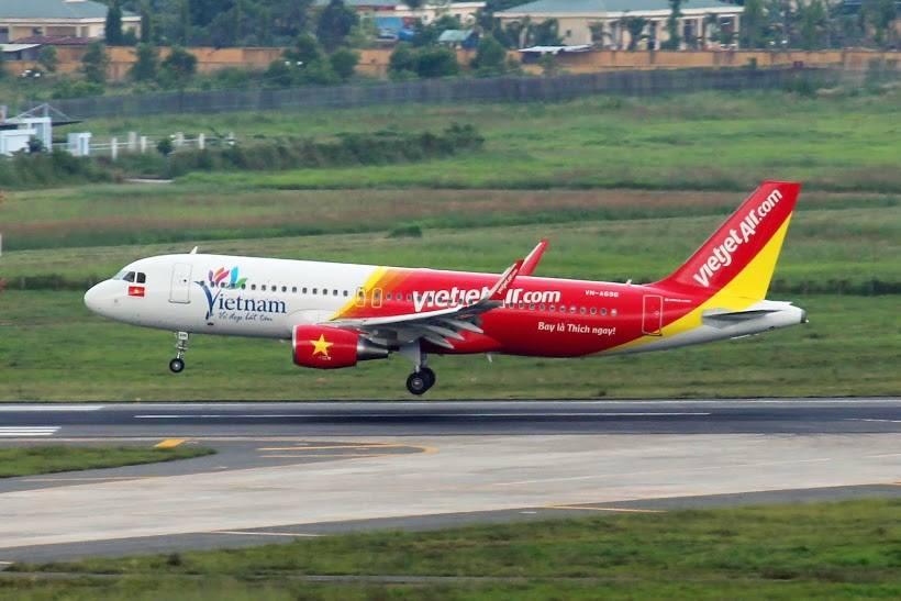 Vietjet, compania low cost no Vietnã (imagem retirada de vietjetair.com)