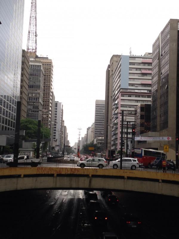 O final da Av. Paulista