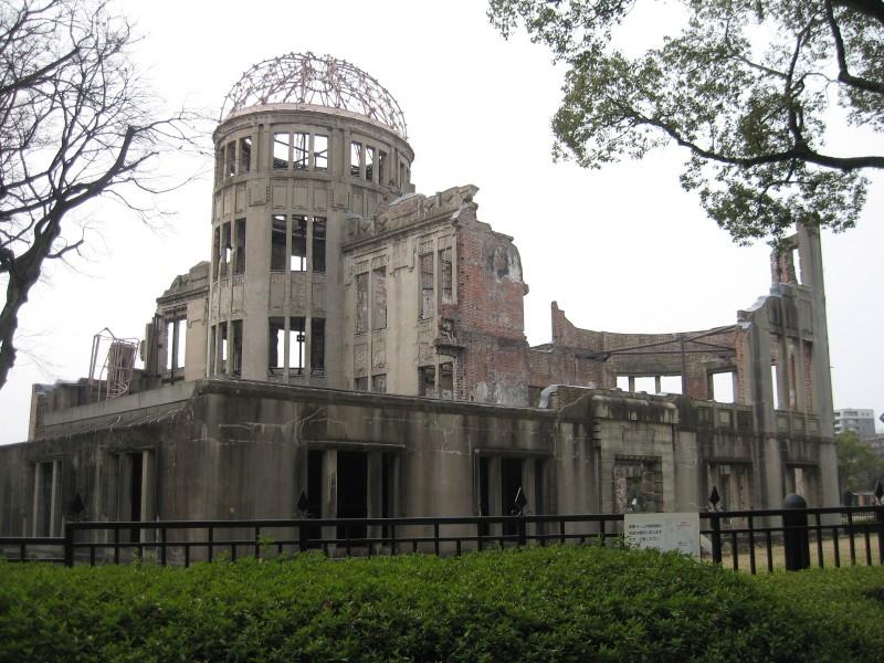 A-bomb Dome, prédio destruído pela bomba atômica, em Hiroshima
