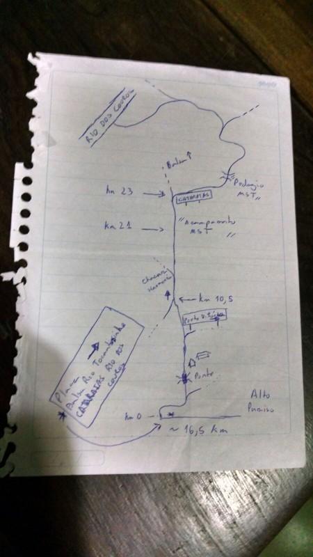 chapada dos veadeiros_mapa catarata dos couros
