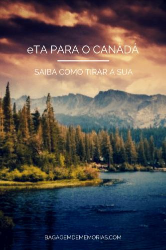 eTA PARA O CANADÁ