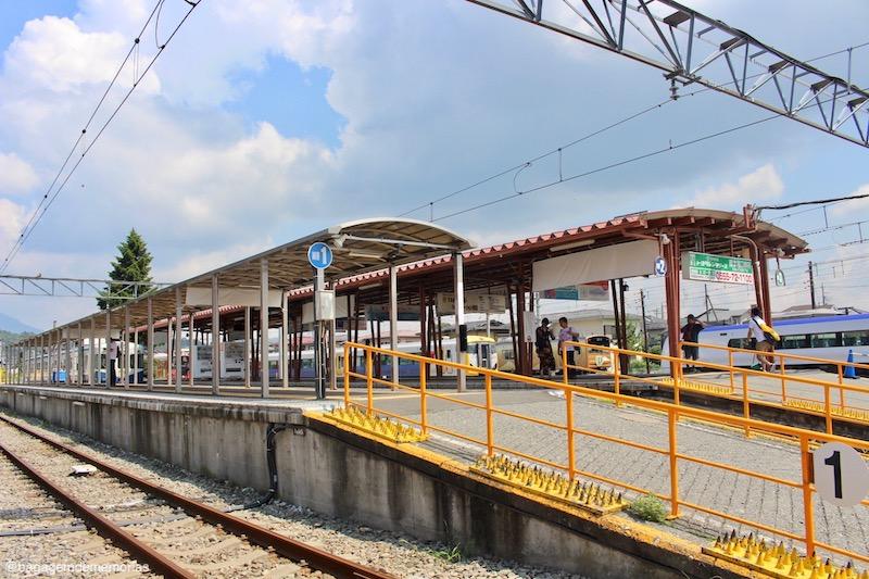 Estação de trem de Kawaguchiko.