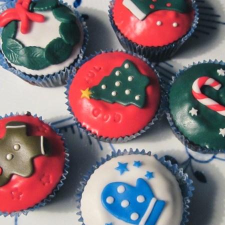 Julecupcakes fra Bageglad.dk