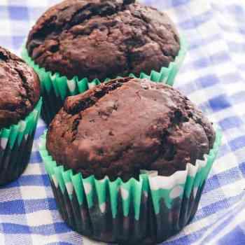 Mørk chokolade muffins opskrift