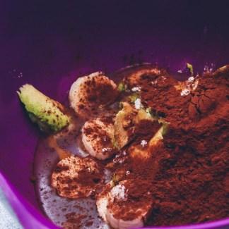 Avocado, banan og kakao