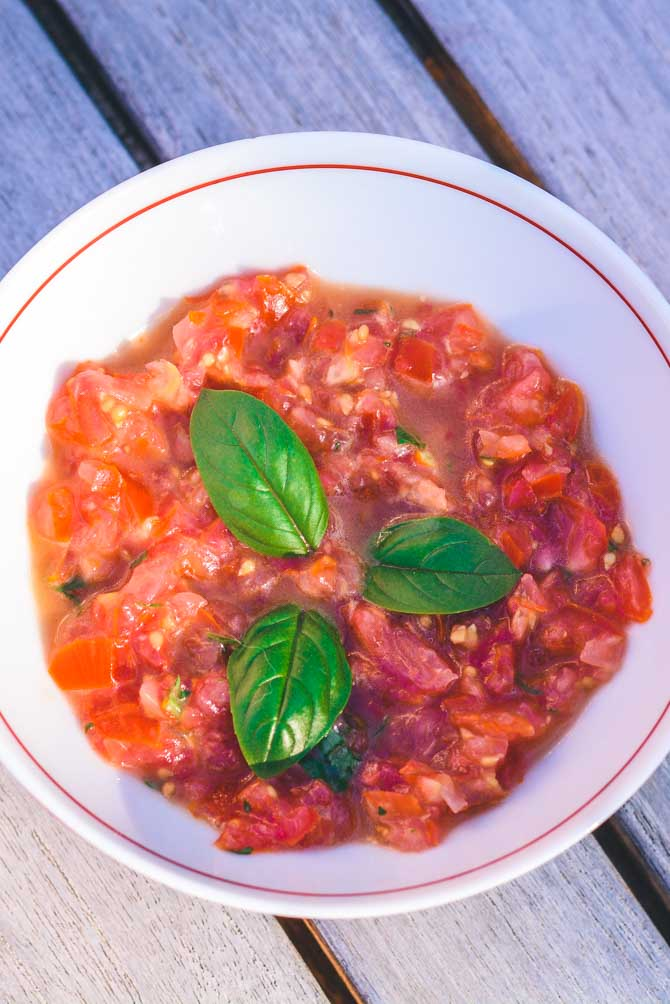 Hjemmelavet tomat salsa