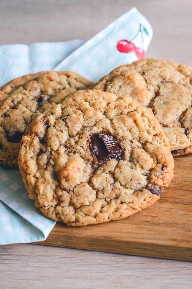Peanut butter cookies opskrift fra Bageglad